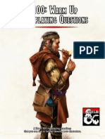 100 Warm Up Roleplaying Questions For Players
