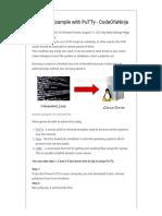 Cron Job Example with PuTTy - CodeOfaNinja