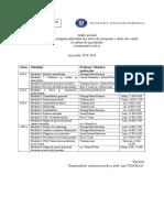 Grafic privind stabilirea unor ore de pregătire suplimentară în vederea recuperării noţiunilor elementare la cultura de specialitate