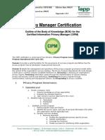 IAPP Cipm - instructiuni tematica si examen