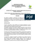 Viabilidad y germinacion de Amaranthus SP