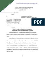 Plaintiff's Reply to Defendant's Response to Plaintiff's Motion for Summary Judgment