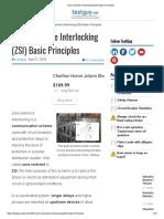 Zone Selective Interlocking (ZSI) Basic Principles