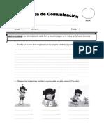 evaluacion de comunicación (I)
