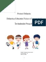 proiect didactic ed fizica grupa mijlocie