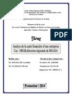 Analyse de la santé financière d'une entreprise