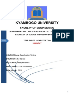 Specifcations Notes January  2019_ Paddy Mulamba (Lecturer, Kyambogo University)