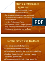 How to Start a Performance Appraisal