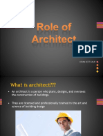 Role of Architect new