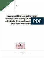 Casale Rolle, Carlos Ignacio - Hermenéutica teológica como ontología escatológica a la luz de la historia de las religiones según Wolfhart Pannenberg.pdf