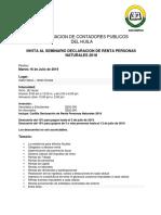 INVITACION SEMINARIO DECLARACION RENTA 2018 P.N. (1)
