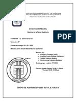 AUDITORES CASA MAYA S.A DE C.V