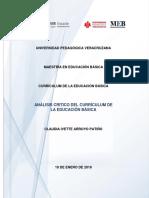 Análisis Crítico Del Currículum de La Educación Básica