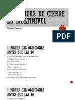 3 TÉCNICAS DE CIERRE EN MULTINIVEL