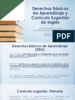 Derechos Básicos de Aprendizaje y Currículo Sugerido Inglés Primaria