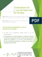 2.2.1 Generadores de Corriente. Ley de Inducción de Faraday