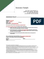 Insurance Sample
