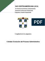 I Unidad Evolución Proceso Administrativo