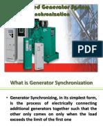 Distributed Generator System Synchronization
