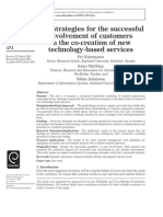 Key Strategies for the Successful Involvement of Customers in the Co-creation of New Tecnology-based Services
