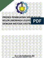 Proses Pembuatan Sirup Daun Kelor ( Moringa Oleifera ) dengan Metode Ekstraksi