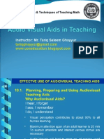 Audio Visual Aids Presentation Tariq Ghayyur