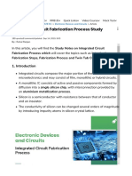 Integrated Circuit Fabrication Process Study Notes for ECE