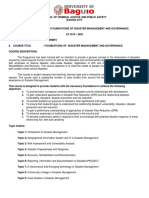 COURSE OUTLINE ON FOUNDATIONS OF DISASTER MANAGEMENT AND GOVERNANCE.docx