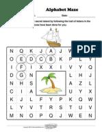 Worksheet Works Alphabet Maze 18