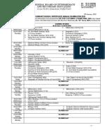date sheet Annual 2020