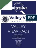 Valley View FAQ