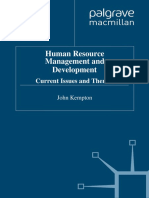 John Kempton - Human Resource Management and Development_ Current Issues and Themes-Palgrave Macmillan (1995)