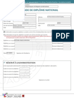 Formulaire remplissable - Demande de diplome national (1)