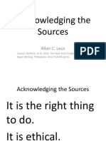 Acknowledging the Sources