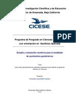 Estudio y simulación numérica para el modelado de yacimientos geotérmicos