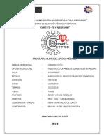 MODULO DE CARPINTERIA 2019 II - ZENON