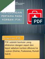 PERTOLONGAN PERTAMA PADA KORBAN (P3K)