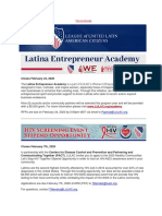 LULAC - Grants and Funding Opportunities for Spring 2020