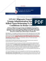 LULAC Migrants Deported by Trump Administration Have Been Killed Upon Returning to Dangerous Conditions in Home Country