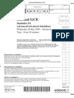 June 2009 QP - S1 Edexcel