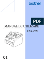 Manual Brother Fax 2920