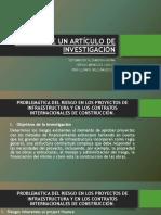 ANÁLISIS DE UN ARTÍCULO DE INVESTIGACIÓN