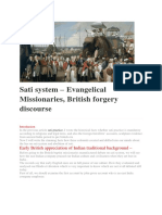 Sati system - Missionaries, British role and true facts