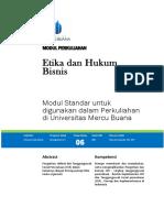 Modul Etika dan Hukum Bisnis  TM6