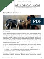 Filosofia do Desespero - Vitor Matias 4,11,2019