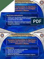 Unidad 1. Conceptos Fundamentales de Algoritmos y Programación basada en el Paradigma Orientado a