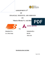 "FINANCIAL  INSTITUTE  AND  SERVICES  ON ""Bank of Broda Vs. Axis Bank"""