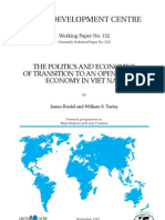 The Politics and Economics of Transition to an Open Market Economy in Vietnam _1921919