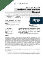NATIONAL WAR MUSEUM DESIGN BRIEF