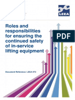 ROLES AND RESPONSIBILTY FOR ENSURING CONTINUOUS SAFETY OF IN SERVICE LIFTING EQUIPMENT
